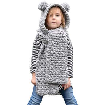 écharpe bonnet enfant