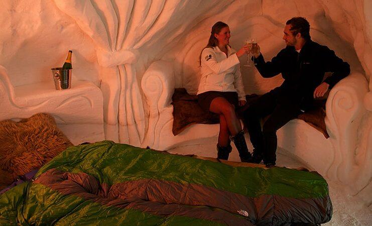 nuit insolite dans un igloo en france