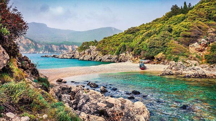 limni ammolorida plus belles plages corfou