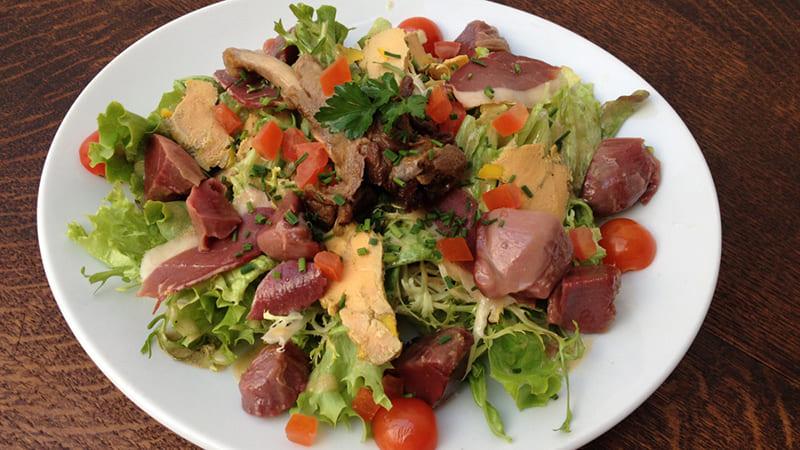 salade landaise canard
