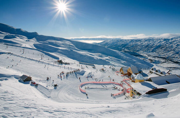 skier en nouvelle zelande cardrona