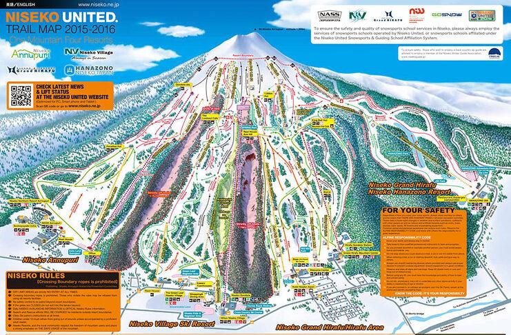 skier niseko japon asie