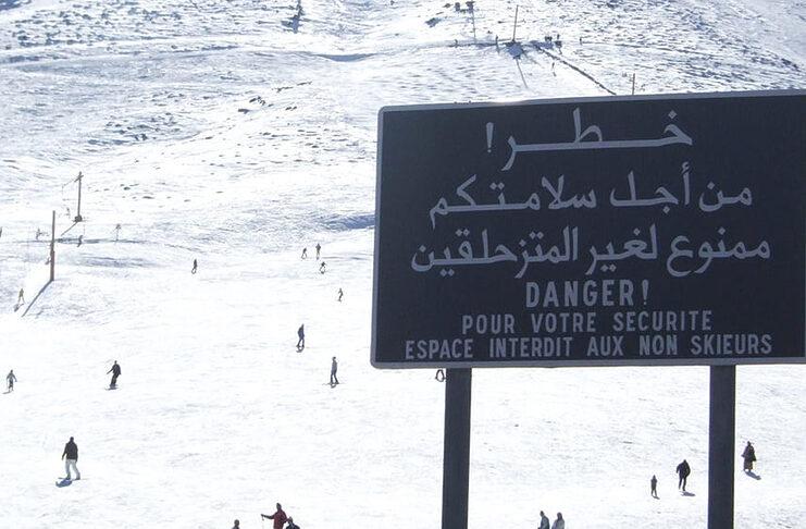 skier au maroc oukaimeden afrique