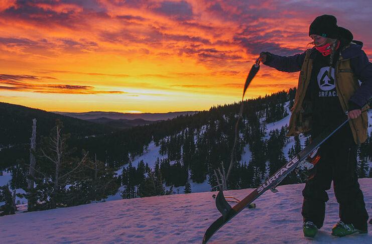 skier de nuit en suede