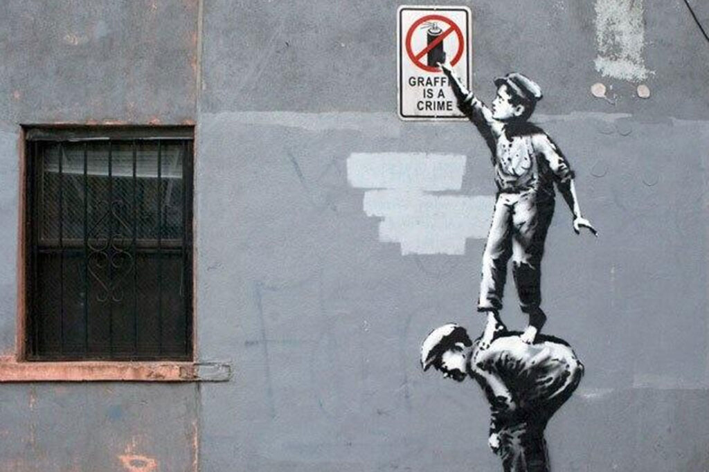 street art banksy graffiti