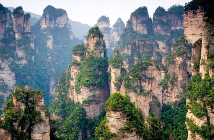 monts tianzi chine